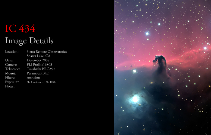 IC 434 – The Horsehead Nebula