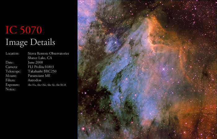 IC 5070 – The Pelican Nebula