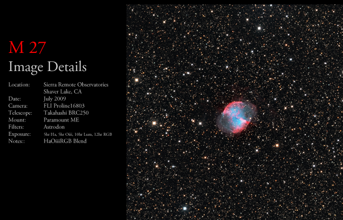 M 27 – The Dumbell Nebula
