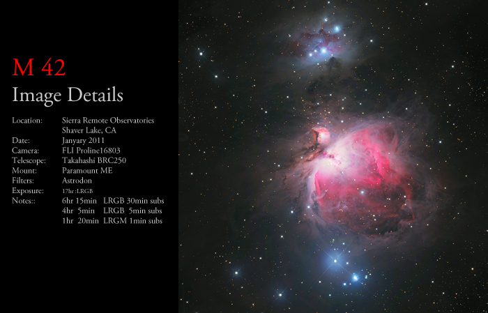 The Orion Nebula (M42) and The Running Man (NGC 1977)