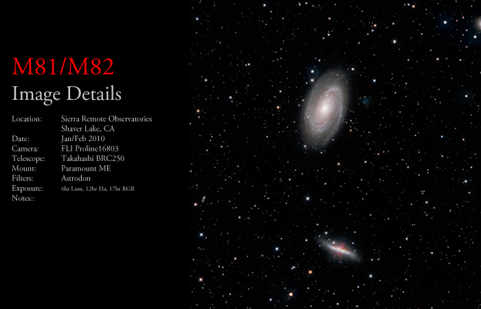 M81/M82 – Bodes Nebula & the Cigar Galaxy