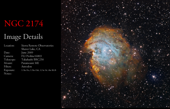 NGC 2174 – The Monkey Nebula