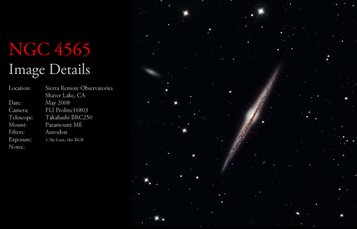NGC 4565 – The Needle Galaxy