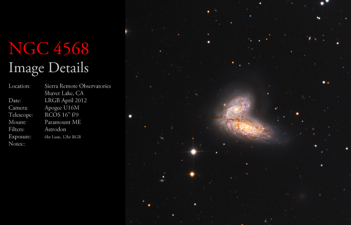 NGC 4568 – The Siamese Twins